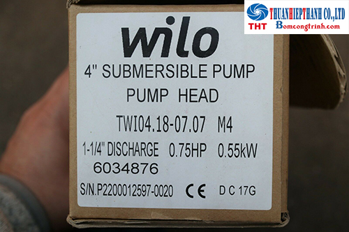 bơm chìm giếng khoan Wilo
